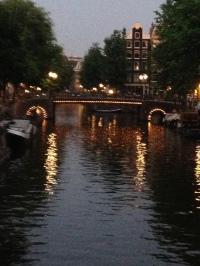 Nightfall in Amsterdam